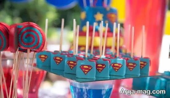 طراحی و دیزاین جشن تولد با استفاده از طرح های سوپرمن