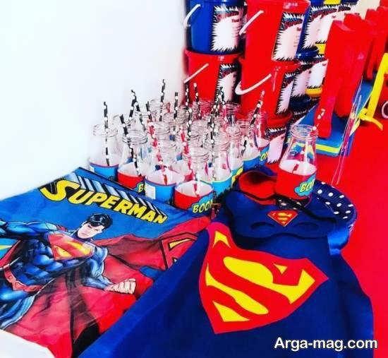 طرح های زیبای سوپرمن برای دیزاین تولد