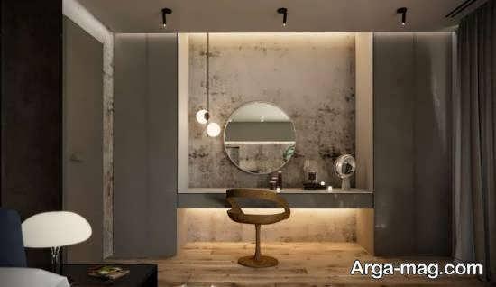 ایده هایی زیبا و شیک از کمد دیواری با میز آرایش