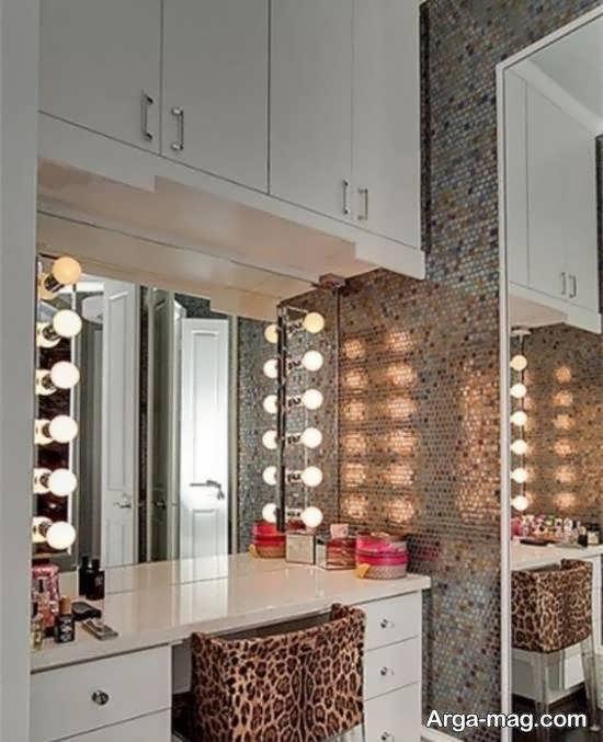 مدل های کاربردی و مورد توجه کمد دیواری با میز آرایش
