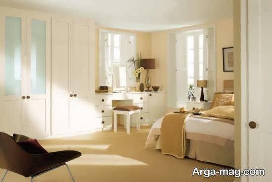 انواع نمونه های زیبای کمد دیواری همراه میز آرایش