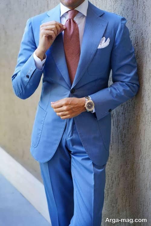 کت شلوار آبی