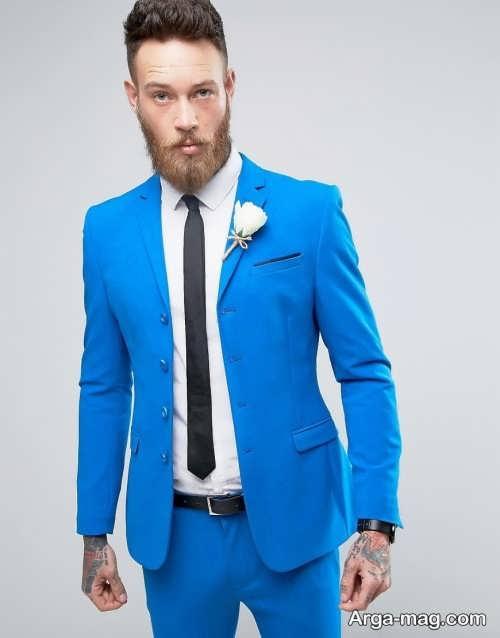 مدل کت و شلوار آبی و زیبا