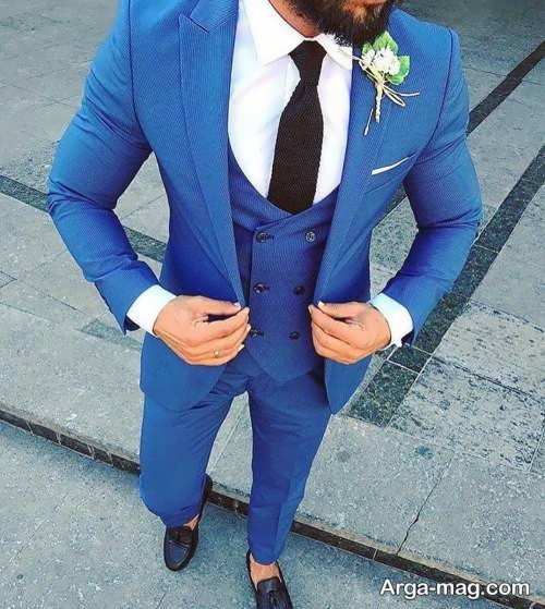 طرح کت و شلوار آبی