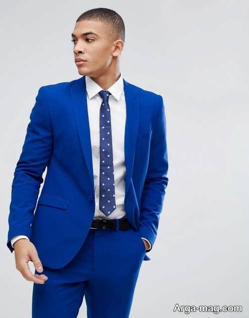مدل کت و شلوار آبی تیره