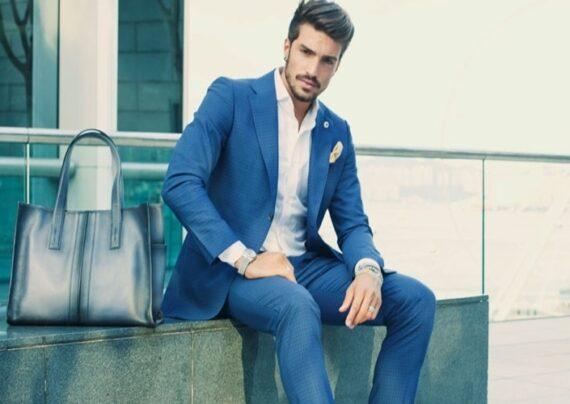 مدل کت و شلوار آبی