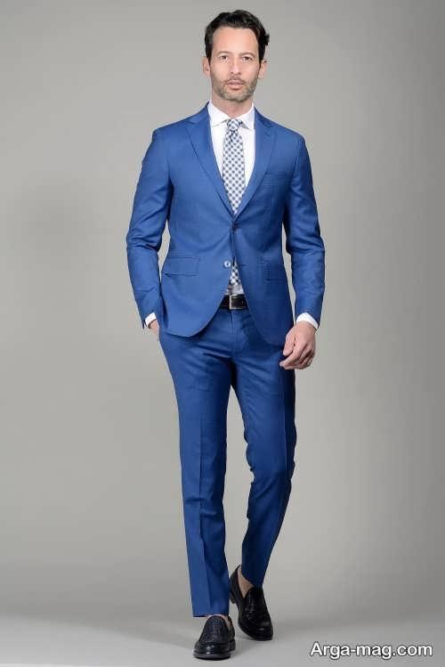 مدل کت و شلوار آبی مردانه