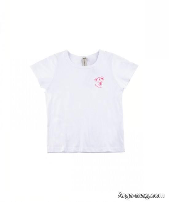 تیشرت سفید رنگ بچه گانه دخترانه