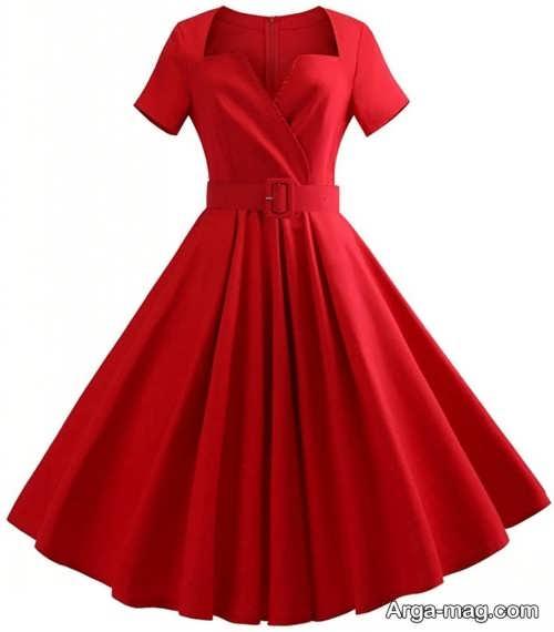 لباس مجلسی قرمز بالای زانو