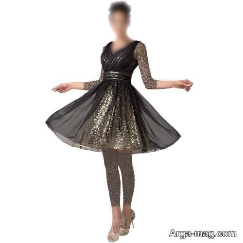 لباس مجلسی دخترانه بالای زانو