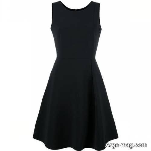 مدل لباس مجلسی بالای زانو با رنگ تیره