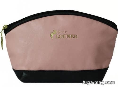 مدل کیف لوازم آرایش دو رنگ