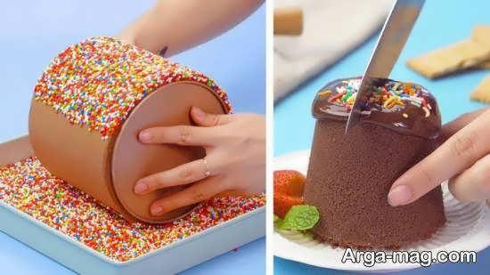 ایده های زیبا و بینظیری از تزیین دسر شکلاتی