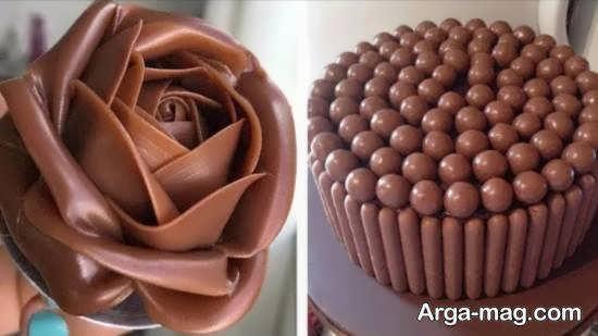 الگوهای زیبای دیزاین دسر شکلاتی