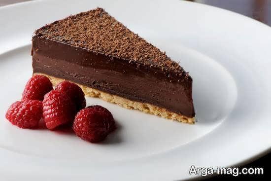 تزیین انواع دسر شکلاتی