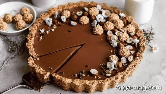 تزیینات زیبا و خلاقانه دسر شکلاتی