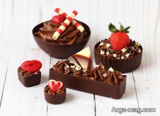 ایده های فوق العاده برای زیباسازی دسر شکلاتی