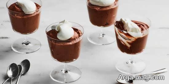 ایده هایی زیبا و متنوع از دیزاین دسر شکلاتی