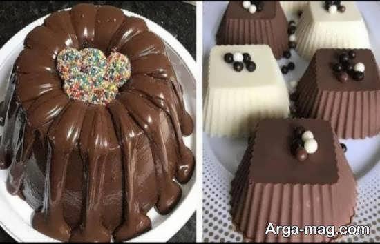 تزیین دسر شکلاتی