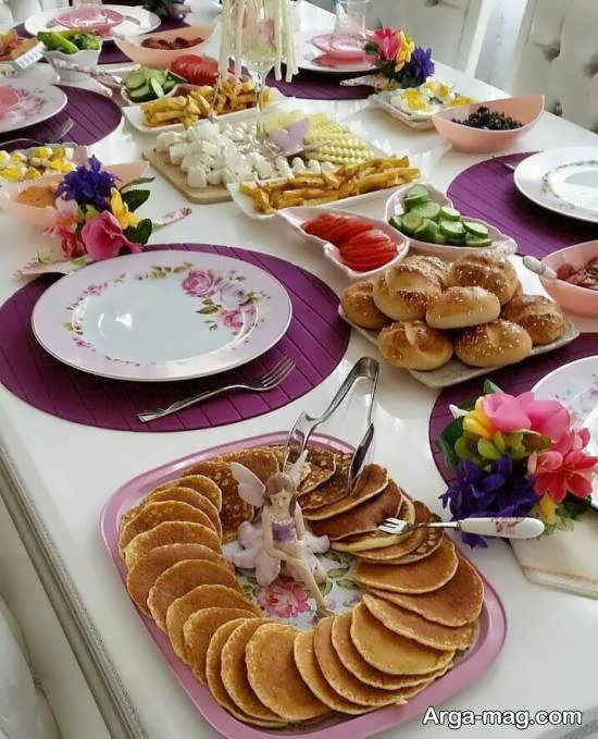 نمونه های جالب و جذاب چیدمان میز عصرانه