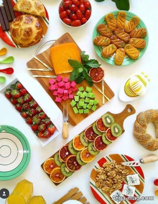 انواع نمونه های ایده آل و دوست داشتنی تزیین میز عصرانه