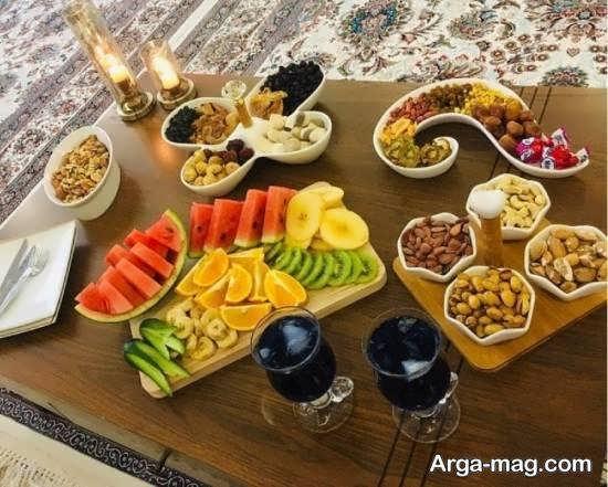 نمونه های جذاب و جدید تزیین میز عصرانه
