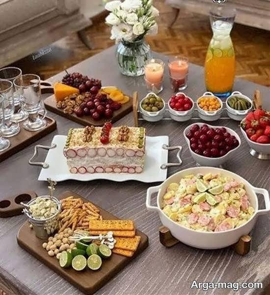 تزیین میز عصرانه