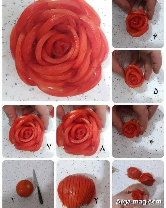 دیزاین سالاد به شکل گل برای تمامی سلیقه ها