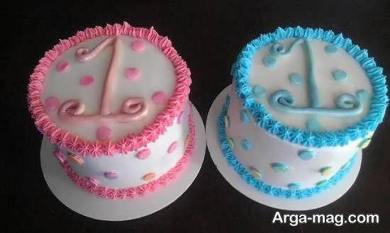 ایده های طراحی کیک تولد دوقلوها