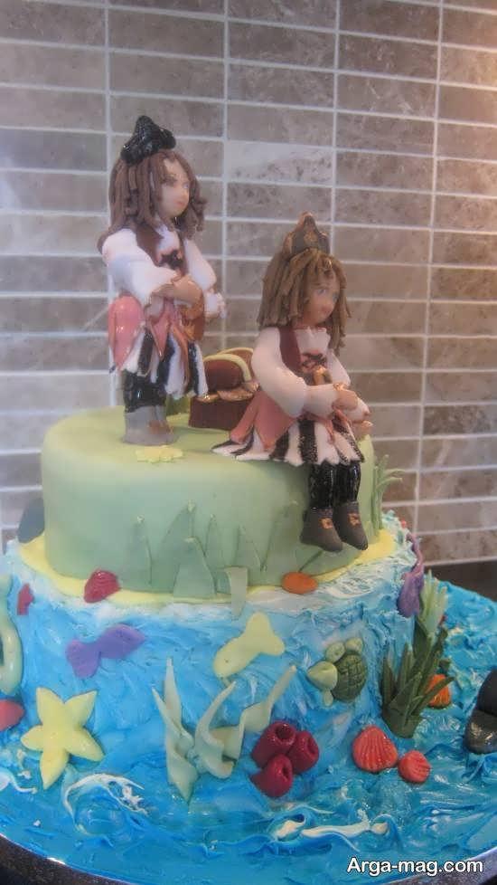 ایده های زیبا و خلاقانه دیزاین کیک تولد دوقلوها