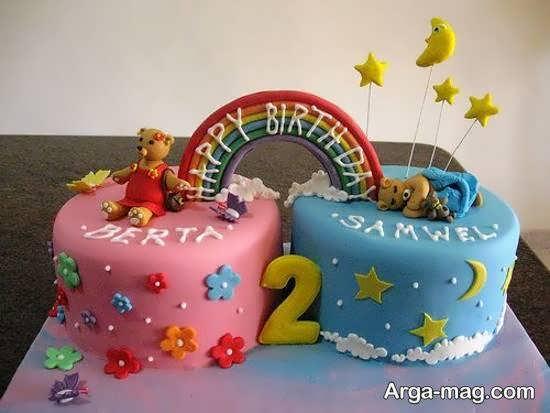 ایده های زیبای طراحی کیک تولد دوقلوها