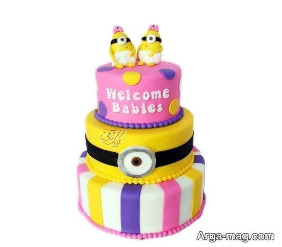 ایده هایی شیک از کیک تولد دوقلوها