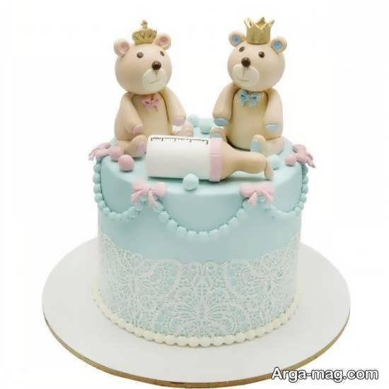 ایده هایی بینظیر و فوق العاده تزیین کیک تولد دوقلوها