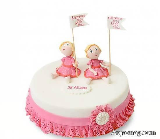 ایده های زیبا از تزیین کیک تولد دوقلوها