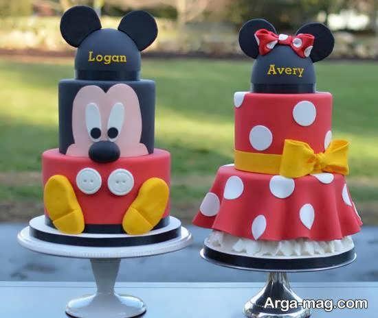 ایده هایی ایده آل از دیزاین کیک تولد دوقلوها