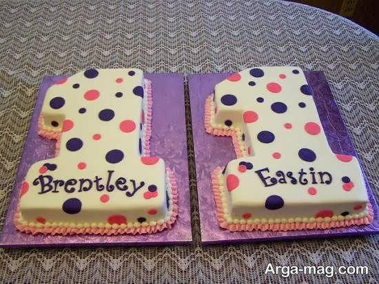 ایده های زیبا و شیک تزیین کیک تولد دوقلوها