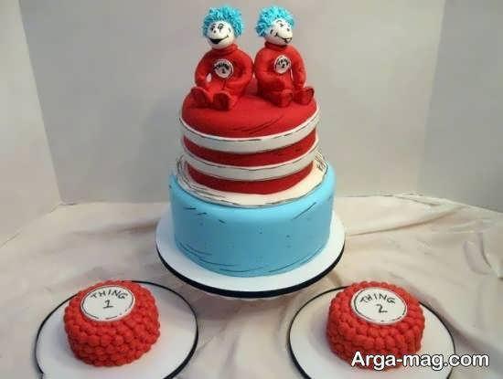 طراحی زیبا و خارق العاده ی کیک تولد دوقلوها