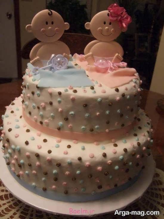 ایده های زیبای تزیینات کیک تولد دوقلوها