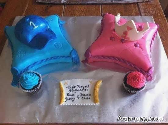 انواع نمونه های بینظیر تزیین کیک تولد دوقلوها