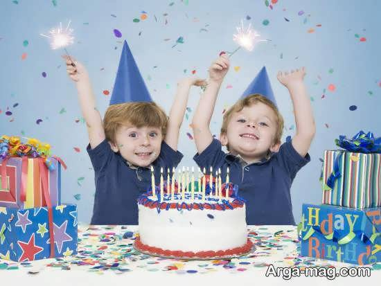 ایده های تزیینات کیک تولد دوقلوها
