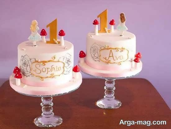 ایده های خارق العاده و نفیس دیزاین کیک تولد دوقلوها