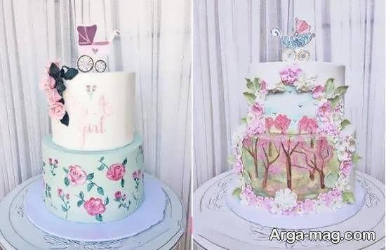 نمونه هایی دوست داشتنی از تزیینات کیک تولد دوقلوها