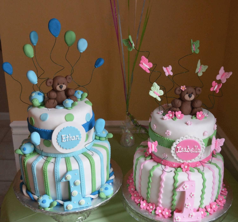 ایده های جذاب تزیین کیک تولد دوقلوها