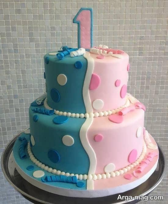دیزاین کیک تولد دوقلوها