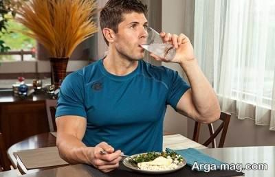 نوشیدن آب بین غذا