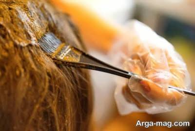 آموزش رنگ کردن مو با حنا