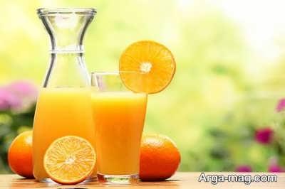 از بین بردن آب پرتقال