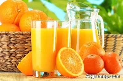 دستور تهیه آب پرتقال در خانه