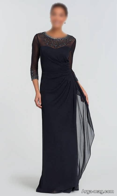 مدل لباس شب 1400 آستین دار