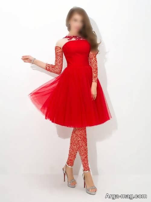 مدل لباس شب 1400 قرمز